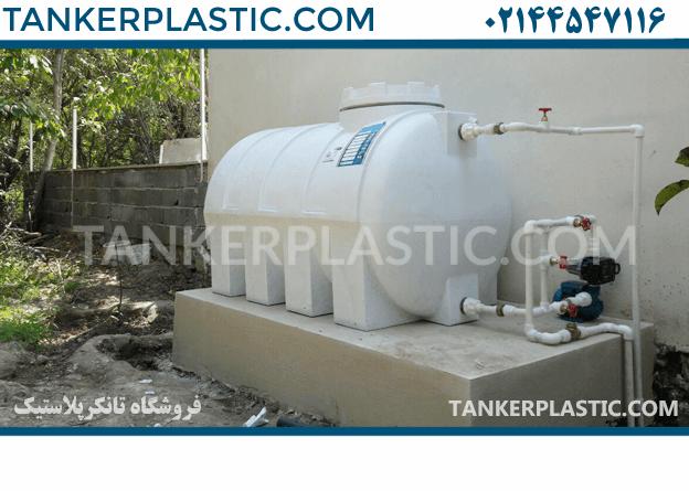 منبع آب پلاستیکی یا فلزی